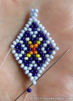 Finish by adding one more bead