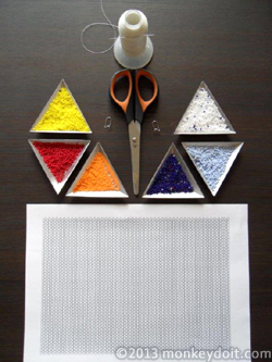 Materials Needed To Make Diamond-shaped Earrings Out Of Beads