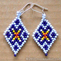 How To Make Diamond Shaped Earrings Out Of Beads