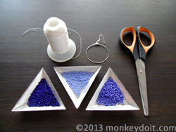 Materials Needed To Decorate Hoop Earrings With Beads