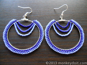 Hoop Earrings Decorated With Beads