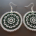 How To Make Circular Netted Earrings Out Of Beads