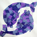 Paper Mosaic Animals for Children