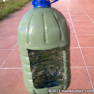 Paint the outside of your plastic bottle