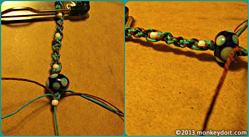 Sprial knots and decorative beads