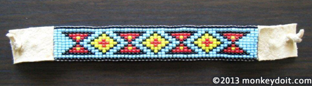 How to make a woven bracelet out of beads